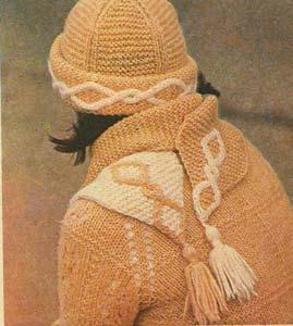 двукольорні шапочка і шарф