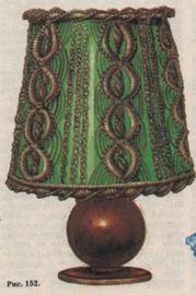 макраме абажур для настольной лампы