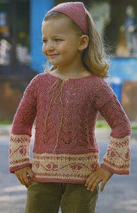 вязание спицами платок и пуловер