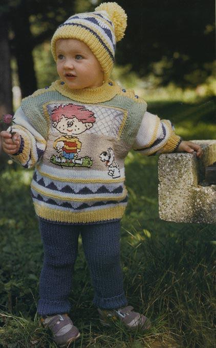 вязание спицами комплект для мальчика