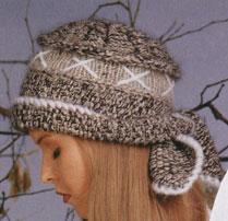 вязание спицами шапочка