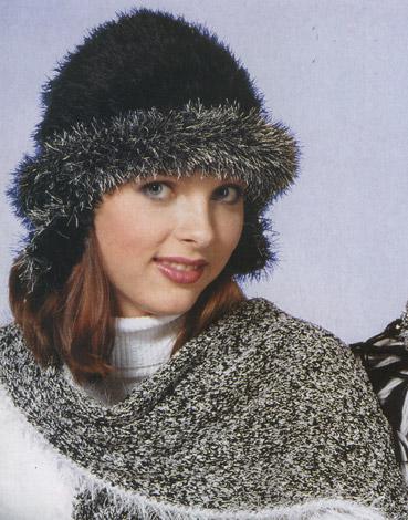 вязание крючком шапочка и шарф