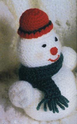 вязание крючком снеговик