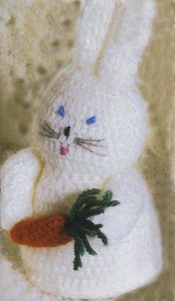 вязание крючком заяц