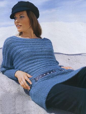 вязание спицами пуловер