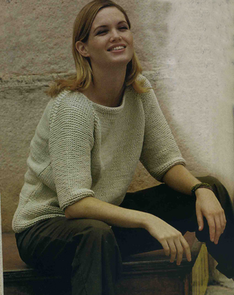 вязание спицами и крючком пуловер с рукавами реглан
