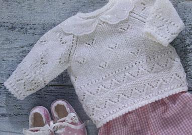 вязание спицами ажурный пуловер