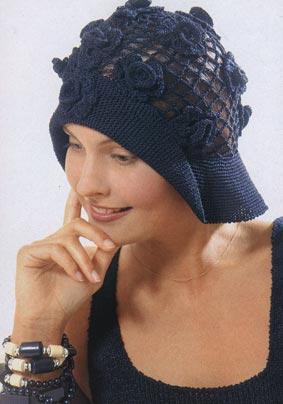 вязание крючком шляпка