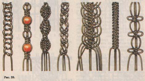 Изделия макраме отличаются поделками, схемы для которых Схем плетения