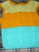 Разноцветный жилет
