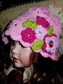 Шляпка с цветочками