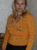 Пуловер с запахом