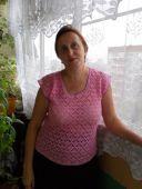 Ажурная розовая блузка
