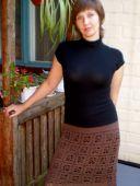 Юбка коричневая