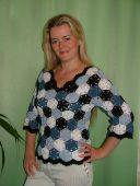 Блуза меланжевая